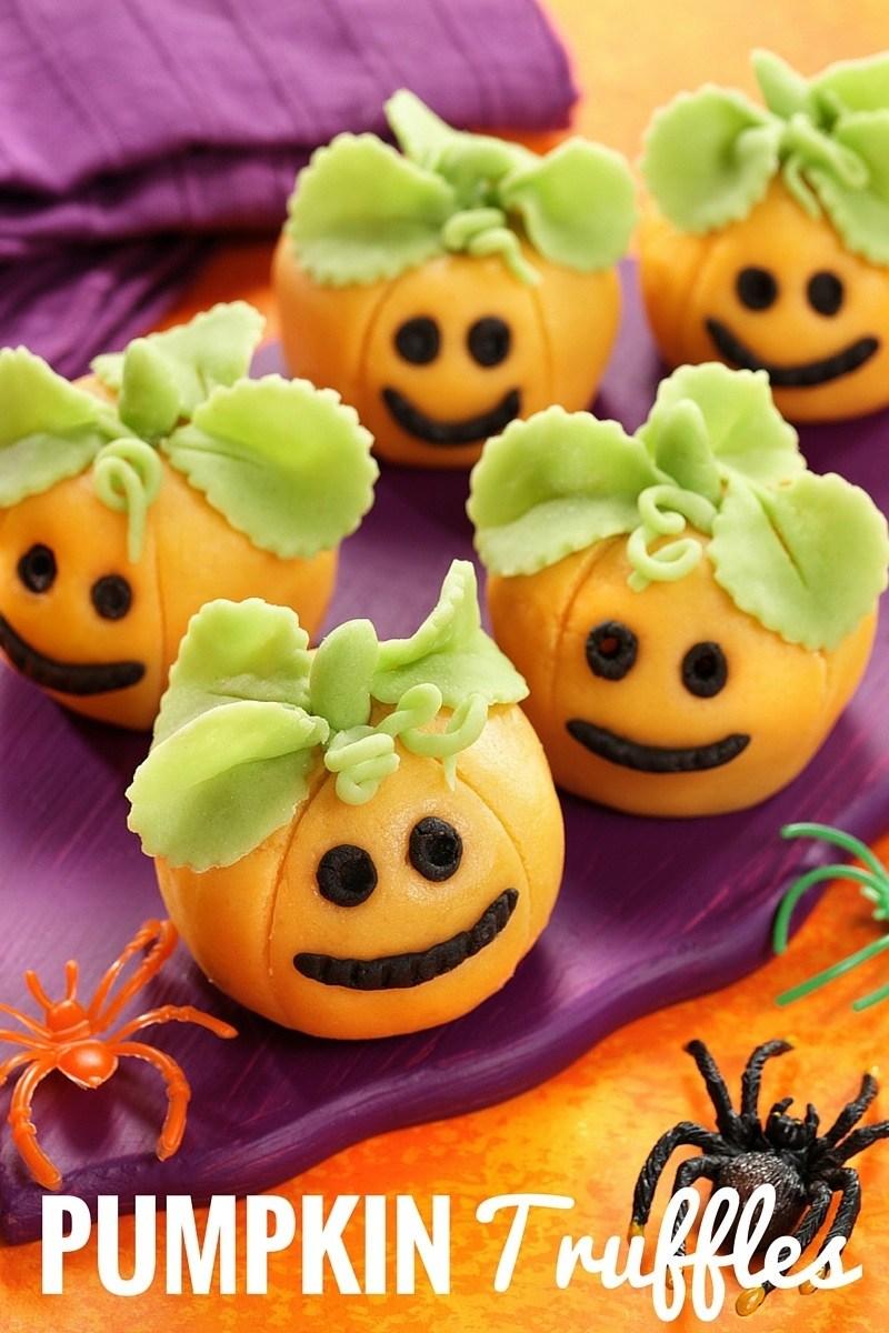 Easy Halloween Pumpkin Truffles