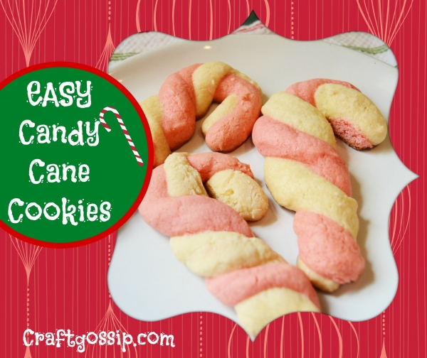 Easy Candy Cane Cookies