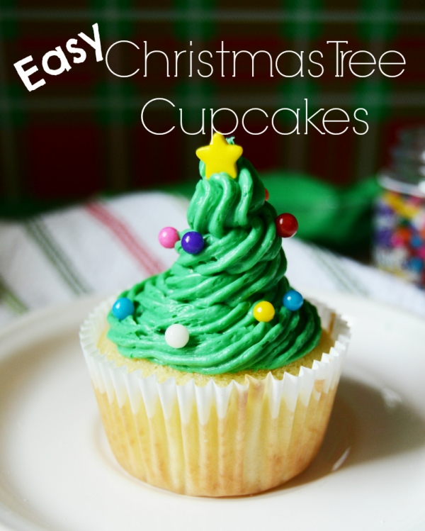 Easy christmas tree cupcakes edible crafts for Easy christmas food crafts