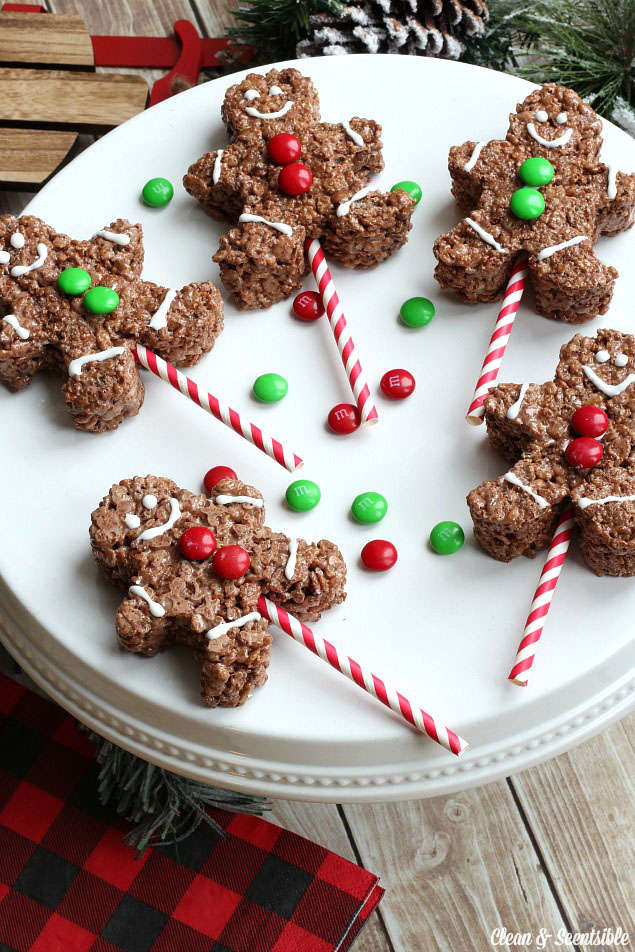 Christmas Recipes Gingerbread Men Rice Krispies Edible