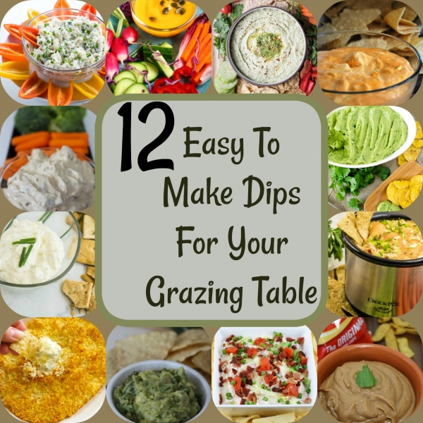 Easy To Make Dips For Your Grazing Table