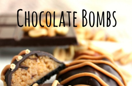Peanut Butter Chocolate Bombs