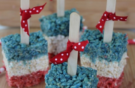Patriotic Rice Krispies Treat