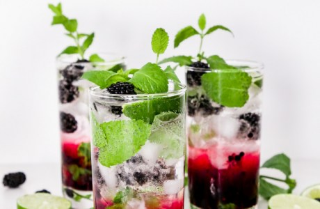 Virgin Blackberry Mojito
