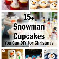15 DIY Snowman Christmas Holiday Cupcakes