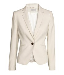 Cream fitted blazer from H&M