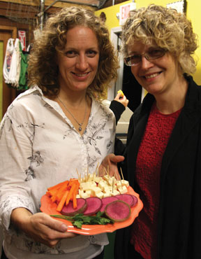 Pam Denholm, South Shore Organics, and Laurie Hepworth, edible South Shore.