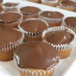 Malted Milk Ball Cupcake with Milk Dud Ganache
