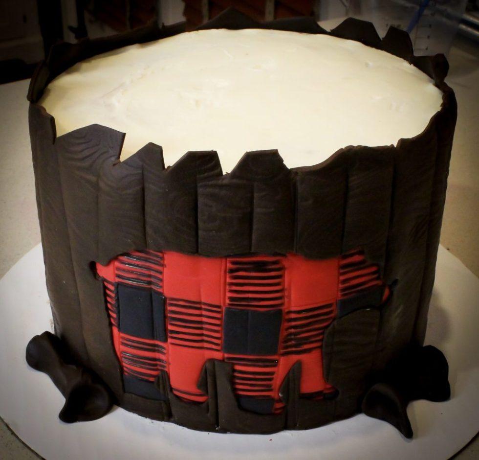 plaid bear Cake tutorial