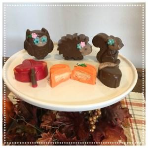 Woodland mini cakes tutorial fall fox