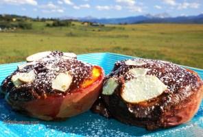 Chocolate-Pinenut-Amaretto Stuffed Peaches