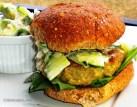 Chicken Edemame Burger with an Avocado Cucumber Relish