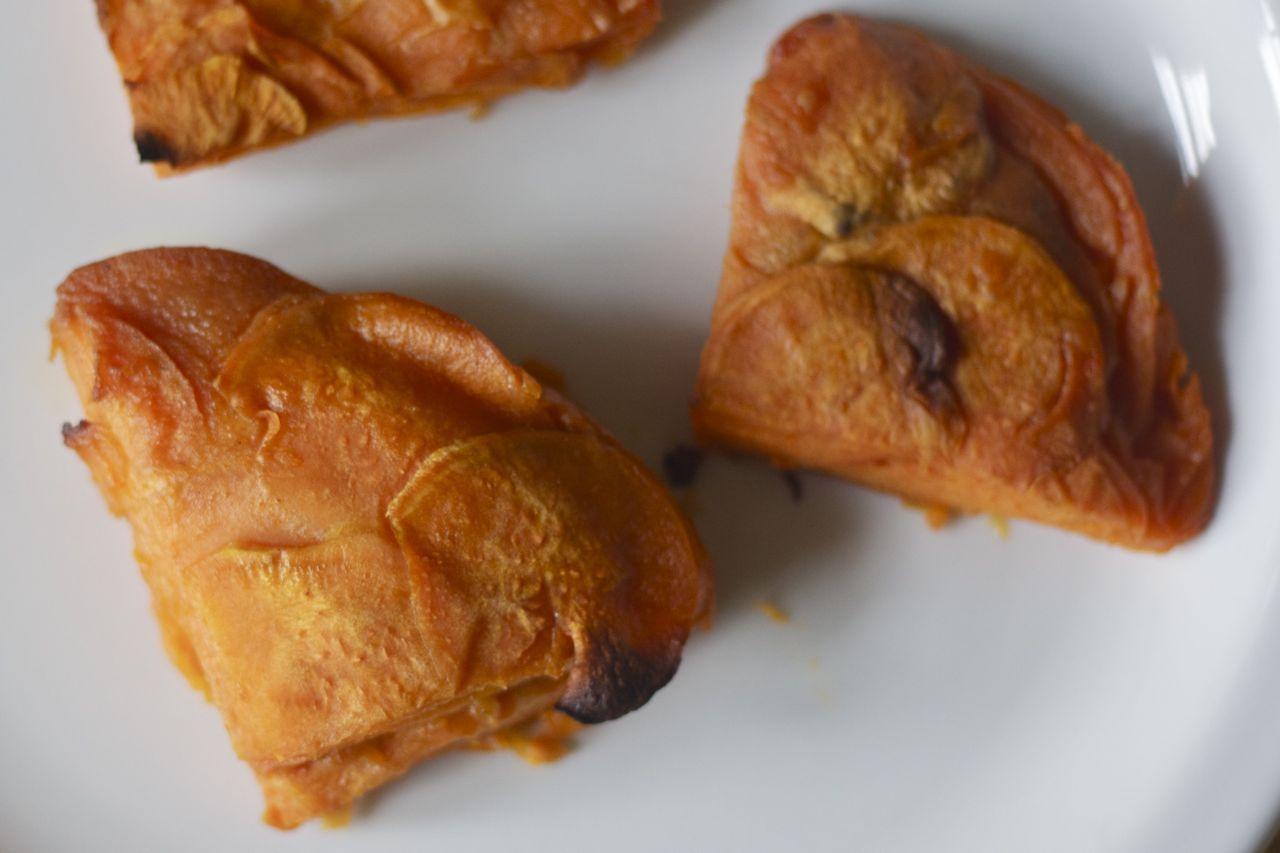Sweet potato gratin on plate.