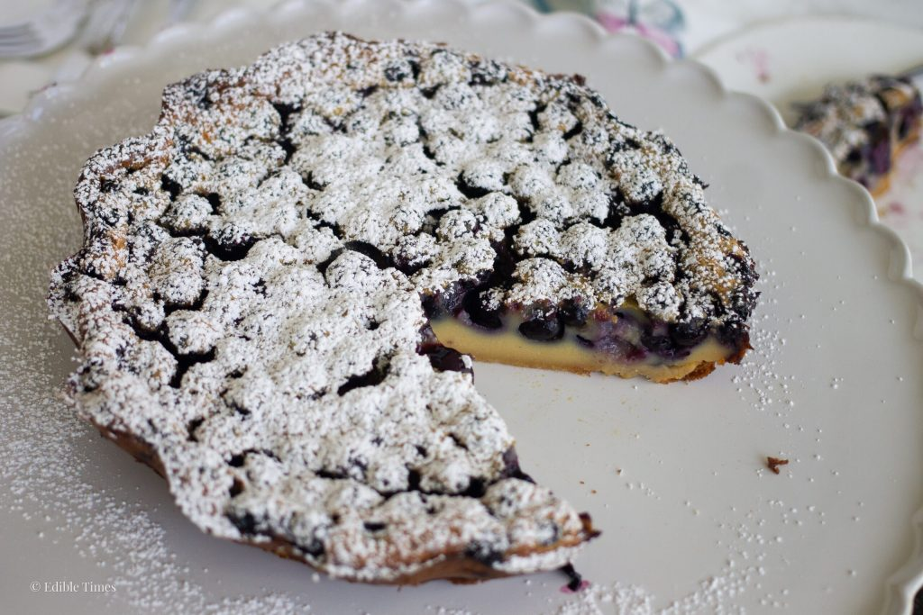 Honey Blueberry Clafoutis from Edible Times
