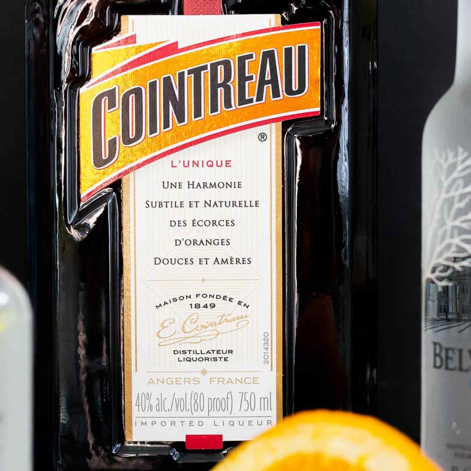 Cointreau orange liqueur for lemon drop cocktail
