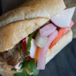 "Eggplant ""Meatball"" Banh Mi Vietnamese Sandwich"