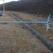 Sustracción de  luminarias solares en Ruta Huara-Colchane