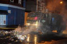 Incidentes y un detenido en jornada de protesta estudiantil