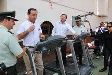 Toda una novedad: moderno gimnasio portátil para internos de penal de Pozo Almonte