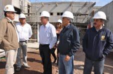 Senador Orpis verificó avances en obras de cuartel de la PDI en Hospicio
