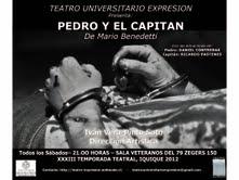 """Esta sábado nueva puesta en escena de obra de Benedetti """"Pedro y el Capitán"""""""