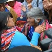 Impresionante testimonio gráfico de liberación de pastora aymara de carcel ariqueña