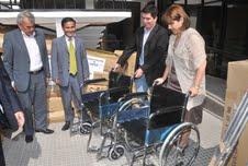 Empresario chino donó implementación para personas con discapacidad