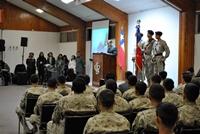 Conscriptos evangélicos participan en Vigilia de Armas en víspera del Juramento a la Bandera
