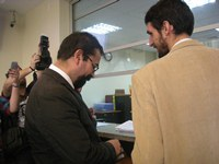 Hugo Gutiérrez se querella contra quienes resulten responsable del atentado a su Oficina Parlamentaria
