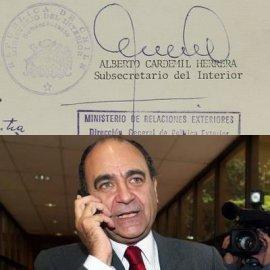 Documentos revelan que actual diputado Cardemil distribuyó fichas de opositores a la dictadura