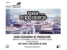 """Fernando Milagros en reemplazo de Ana Tijoux en premiación a ganadores de """"Iquique en 100 palabras"""""""