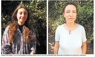 """Organismo internacional acusan """"persecución del Estado de Chile"""" contra dos observadoras italianas"""