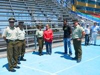 Autoridad inspeccionó medidas de seguridad del  Estadio Tierra de Campeones