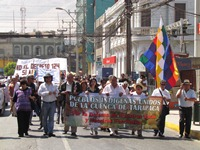 """Agrupaciones Indígenas alertaron en marcha: """"Nos estamos quedando sin agua"""""""