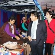 Colorida muestra textil de artesanas aymaras, realiza Conadi