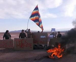 Comuneros de Huatacondo protestan contra Teck Quebrada Blanca por intervención en su territorio y daño patrimonial