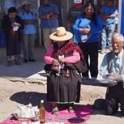 Comunidades indígenas aymaras simbolizan entrega de  fondos UMA para obras de riego