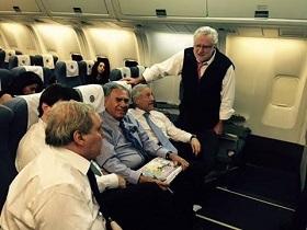 Alcalde Soria regresó a Chile desde Paraguay, en avión presidencial por invitación de Presidenta Bachelet