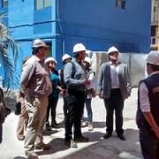 Inspeccionan avances de obras de reparación post terremoto para evaluación técnica