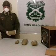 Carabineros decomisa cuatro mil dosis de marihuana ocultas en un parlante