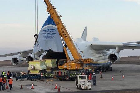 El avión más grande del mundo, de fabricación ucraniana aterrizó  por primera vez en Iquique