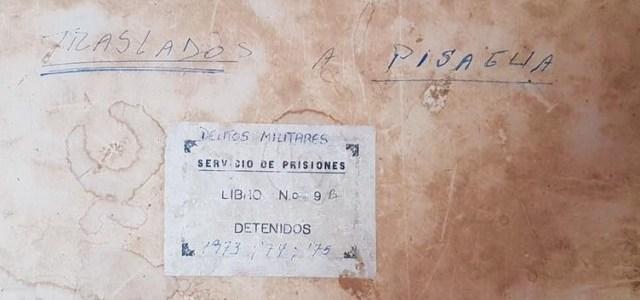 En poder de Gendarmería libros con  registro de ingreso de presos políticos que pasaron por Pisagua y recintos penales