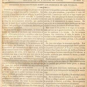 """El 13 de febrero de 1812 se editó el primer periódico nacional: """"La Aurora de Chile"""""""