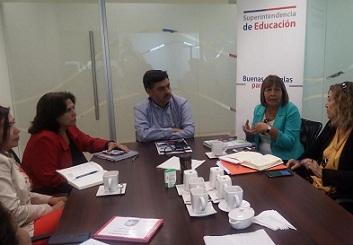 Coordinan trabajo entre establecimientos de la CORMUDESI y  la Superintendenicia de Educación