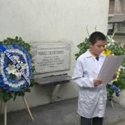Colegio de Periodistas y estudiantes de Escuela Manuel Castro Ramos, rinde homenaje a mártir del periodismo