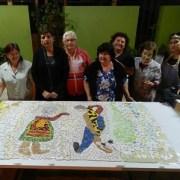 Con obra en mosaico en JJVV Hernán Trizado, destacan los 100 años de Violeta Parra