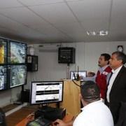 Más de 200 cámaras de seguridad permitieron monitorear simultaneamente diversos puntos de evacuación