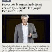 Nuevos antecedentes aportados por proveedor, complican situación de Rossi