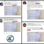 """Milagro: voto """"marcado"""" de la misma serie aparece en Peñaflor, Lo Prado y Las Condes"""