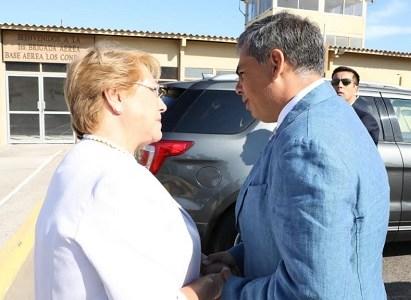 """""""Ojalá que Lobito pronto pueda ser una realidad"""": Presidenta Bachelet al confirmar traspaso de terrenos"""